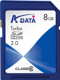 Adata Turbo Class 6 SDHC Card 8GB