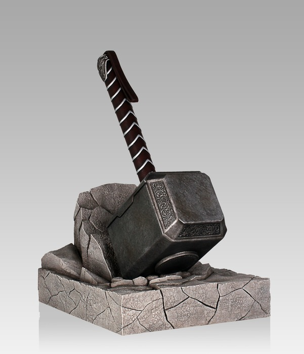 marvel thor mjolnir hammer bookend statue images at mighty