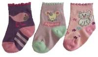 Hi-Hop Animal Friends Girl Socks (0-6 months) - 3 Pack