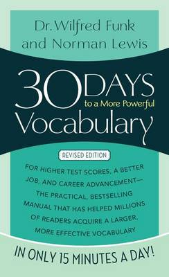 30 Days to a More Powerful Vocabulary by Norman Lewis image