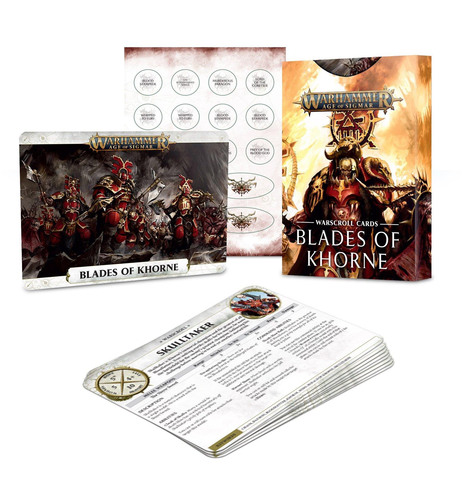 Warhammer Age of Sigmar: Blades Of Khorne - Warscroll Cards image