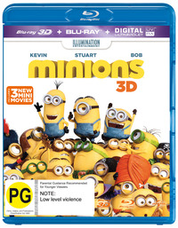 Minions on Blu-ray, 3D Blu-ray, UV image