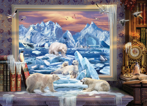Holdson: 1000pce Art to Life Puzzle (Arctic Ice Bears)