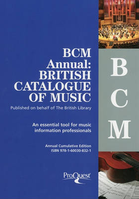 Bcm Annual: British Catalogue of Music by D.S. Lewis image