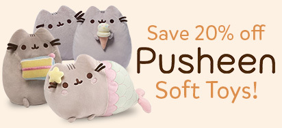 20% off Pusheen toys!