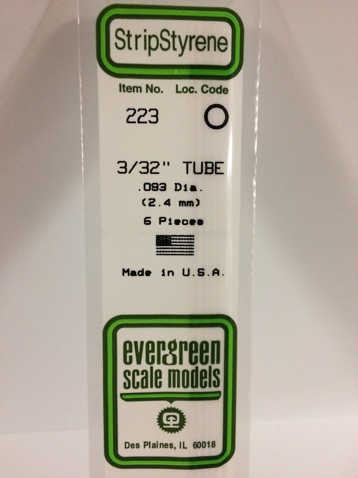 Evergreen Styrene Tube White 35cm Long X 2.4 mm (6) image