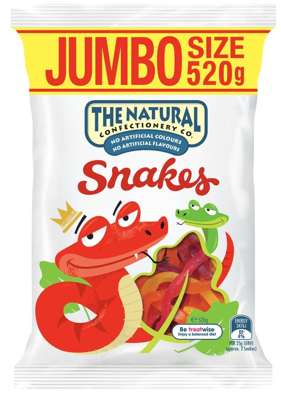 The Natural Confectionery Co: Snakes - (10 x 520g)