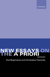 New Essays on the A Priori image
