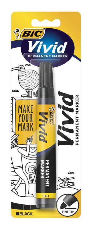 Vivid: Permanent Marker - Fine Tip Black (Single)