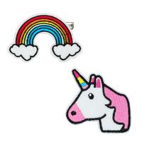 Pink Poppy: Rainbow & Unicorn - Patch Hairclip Set
