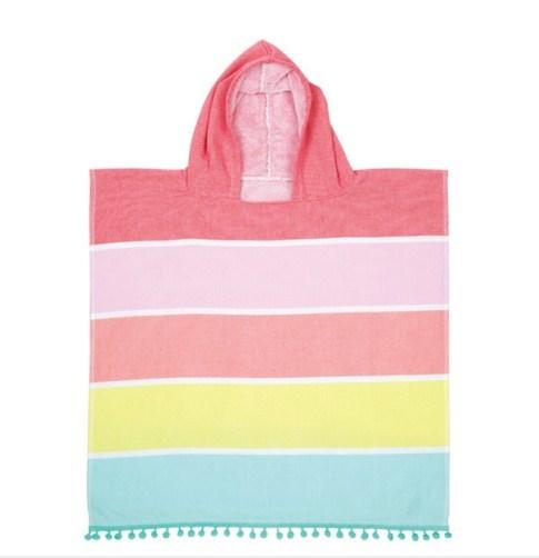 Sunnylife: Kids Hooded Fouta Towel - Pink/Yellow