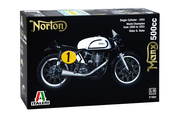 Italeri 1:9 Norton Manx 500cc Motorbike Model Kit