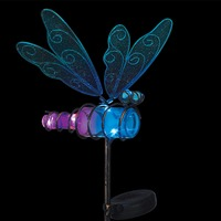 Regal: Mini Solar Dragonfly Stake - Blue image