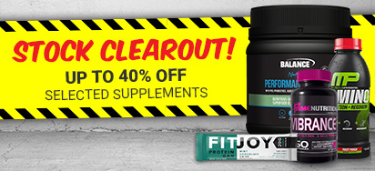 Stock Clearout! 40% off Selected Supplements