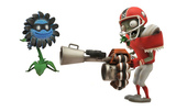 "Plants vs Zombies All-Star Zombie vs. Dark Sunflower 5"" Action Figure Set"