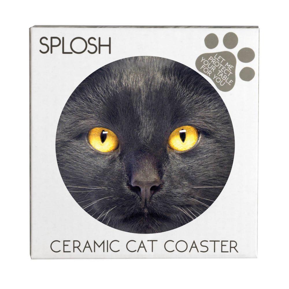 Splosh Kitty Ceramic Coaster - Max image