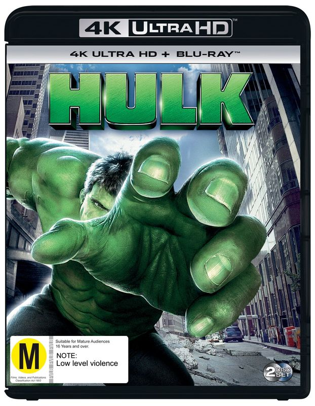 Hulk (2003) (4K UHD + Blu-ray) on Blu-ray, UHD Blu-ray