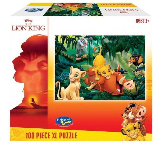 Holdson XL: 100 Piece Puzzle - Lion King (Jungle Fun)