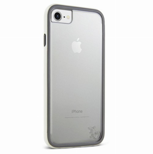 Gecko Classic Accent Case for iPhone 7/6/6s - White/Grey