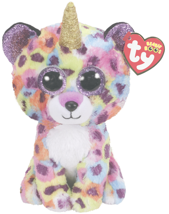 Ty Beanie Boo: Rainbow Leopard - Small Plush image