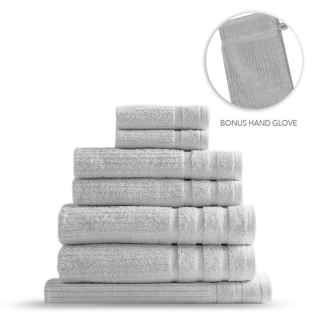 Royal Comfort Eden Egyptian Cotton 600GSM 8-Piece Towel Pack - Sea Holly