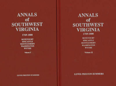 Annals of Southwest Virginia: 1769-1800 by Lewis Preston Summers image