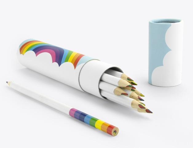 Rainbow Pencils - Pencils in a Tube (12 pack)