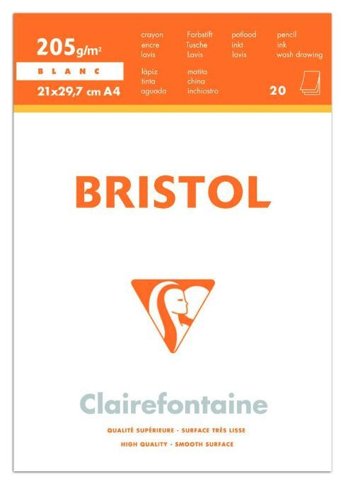 Clairfontaine: Bristol Bloc Pad - A4 (20 Sheets) image