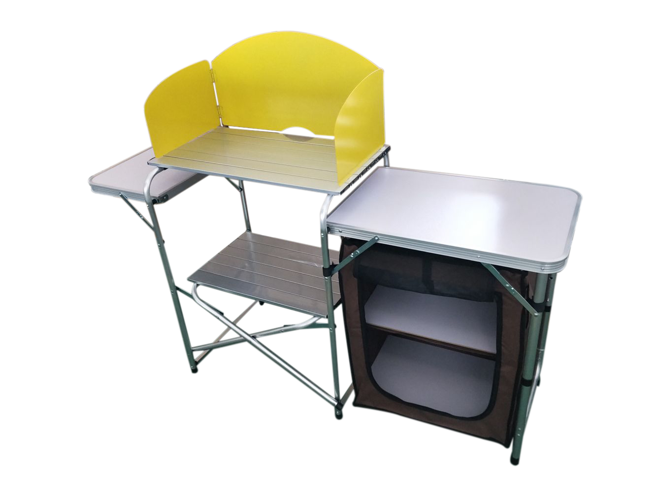 Foldable Camping Kitchen with Cupboard and Side Table image