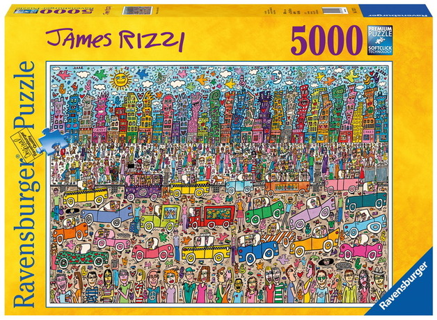 ravensburger 5000 piece jigsaw puzzle james rizzi. Black Bedroom Furniture Sets. Home Design Ideas