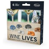 Wine Lives - Kitty Wine Markers (Set of 6)