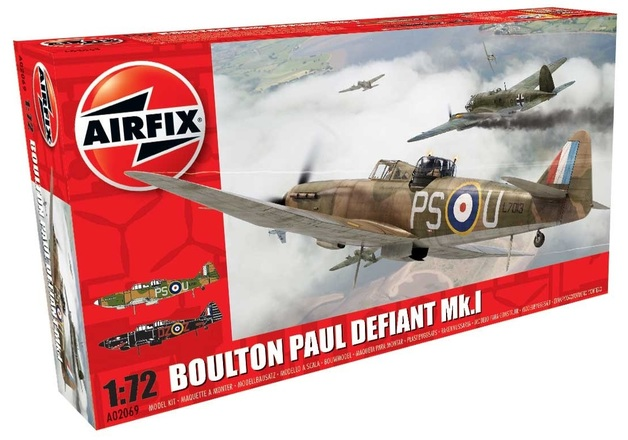 Airfix 1:72 Boulon Paul Defiant MK1 - Model Kit