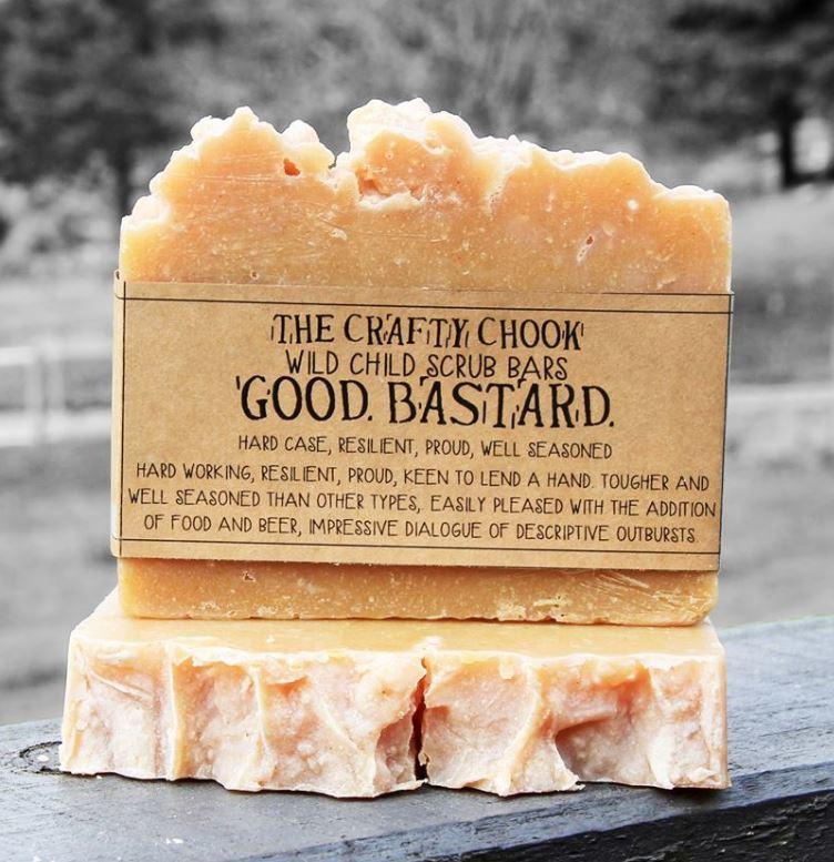 The Crafty Chook Good Bastard Soap image