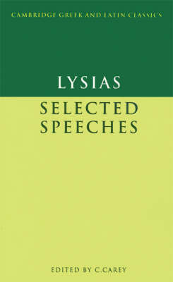 Lysias: Selected Speeches by . Lysias