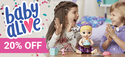 20% off Baby Alive!