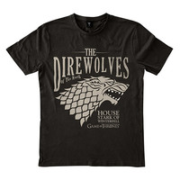 Game of Thrones: The Direwolves of the North Tee - Black (L)