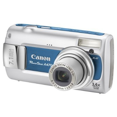 anon A470 7.1Mp 3.4X Optical Digital Camera Blue