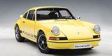 AUTOart 1:18 Porsche 911 Carrera RS 2.7 1973 with Black Stripes (Light Yellow) Diecast Model