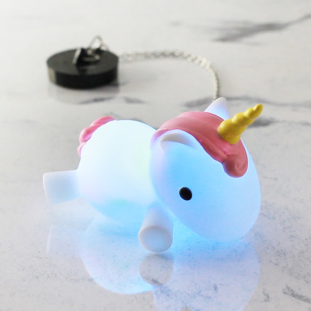 Colour Changing Unicorn Bath Plug