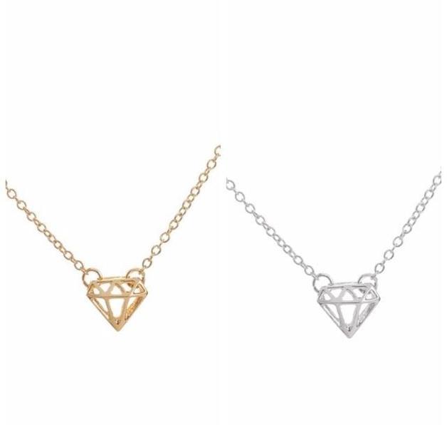 Katy B Jewellery: Mini Diamond Necklace - Silver