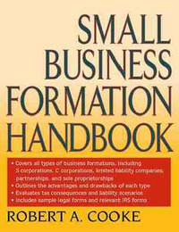 Small Business Formation Handbook by Robert A Cooke image