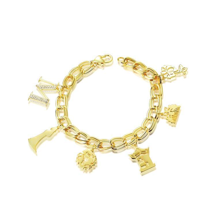 Disney Couture Princess Mulan Charm Bracelet - Yellow Gold image