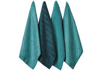Honeycomb Microfibre Kitchen Towel - Teal (4 Pack)