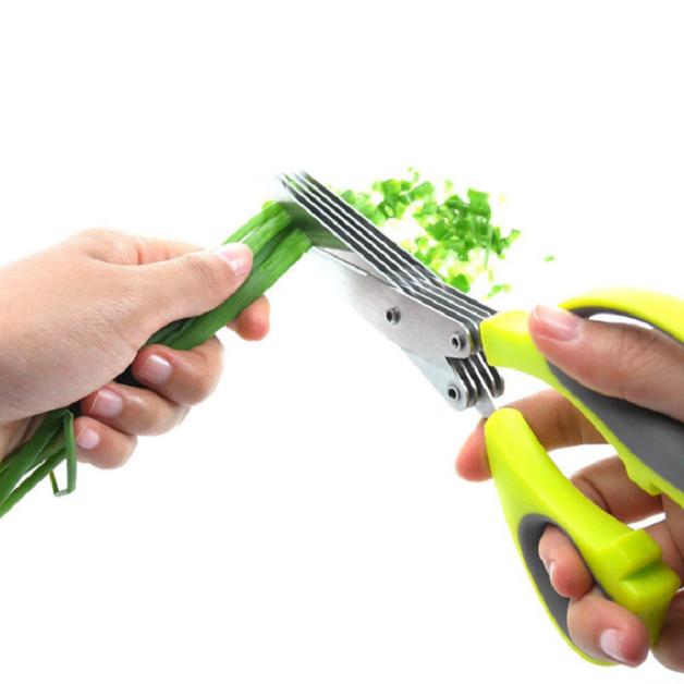 Ape Basics: 5 Blade Kitchen Herb Scissors