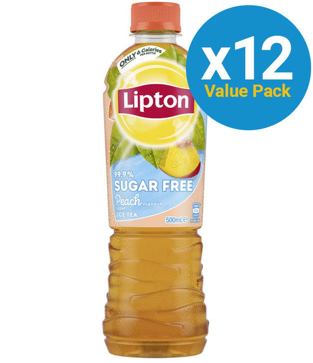 Lipton Ice Tea 99.9% Sugar Free Peach 500ml