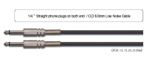 EWI GFOA Guitar / Instrument Cable (20ft)