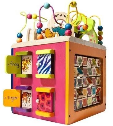 Battat: B. Zany Zoo - Wooden Activity Cube