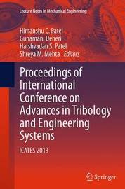 Proceedings of International Conference on Advances in Tribology and Engineering Systems