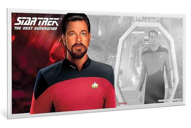 NZ Mint: Star Trek - Silver Coin Note - William T. Riker 2019 (5g Silver)