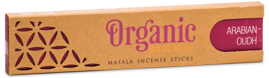 Organic Masala Incense Sticks - Arabian Oudh (15g)